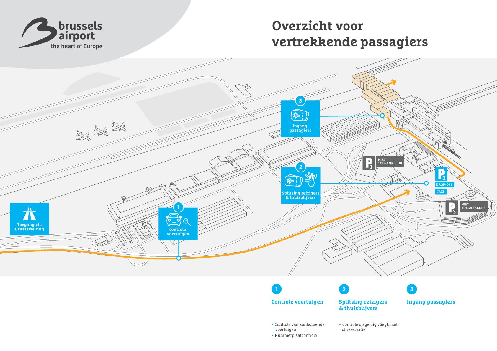 Brussels Airport info voor vertrekkende reizigers