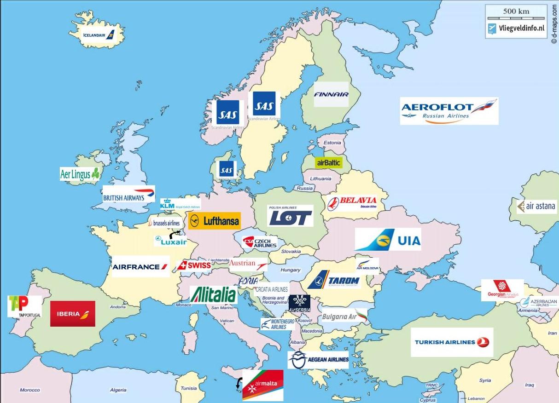 Nationale luchtvaartmaatschappijen Europa