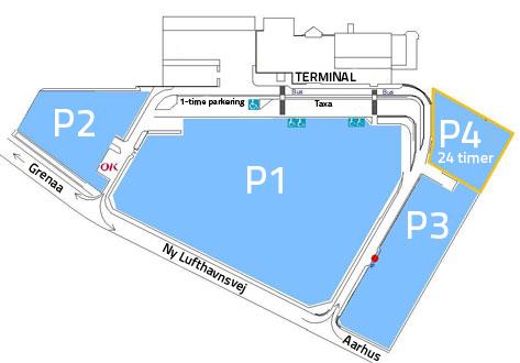 Plattegrond vliegveld luchthaven Aarhus