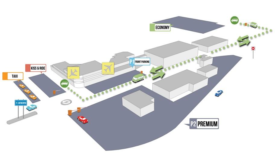 Plattegrond vliegveld luchthaven Antwerp