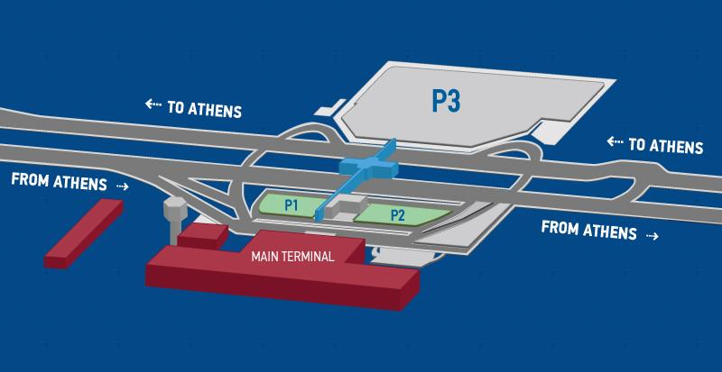 Plattegrond vliegveld luchthaven Athene