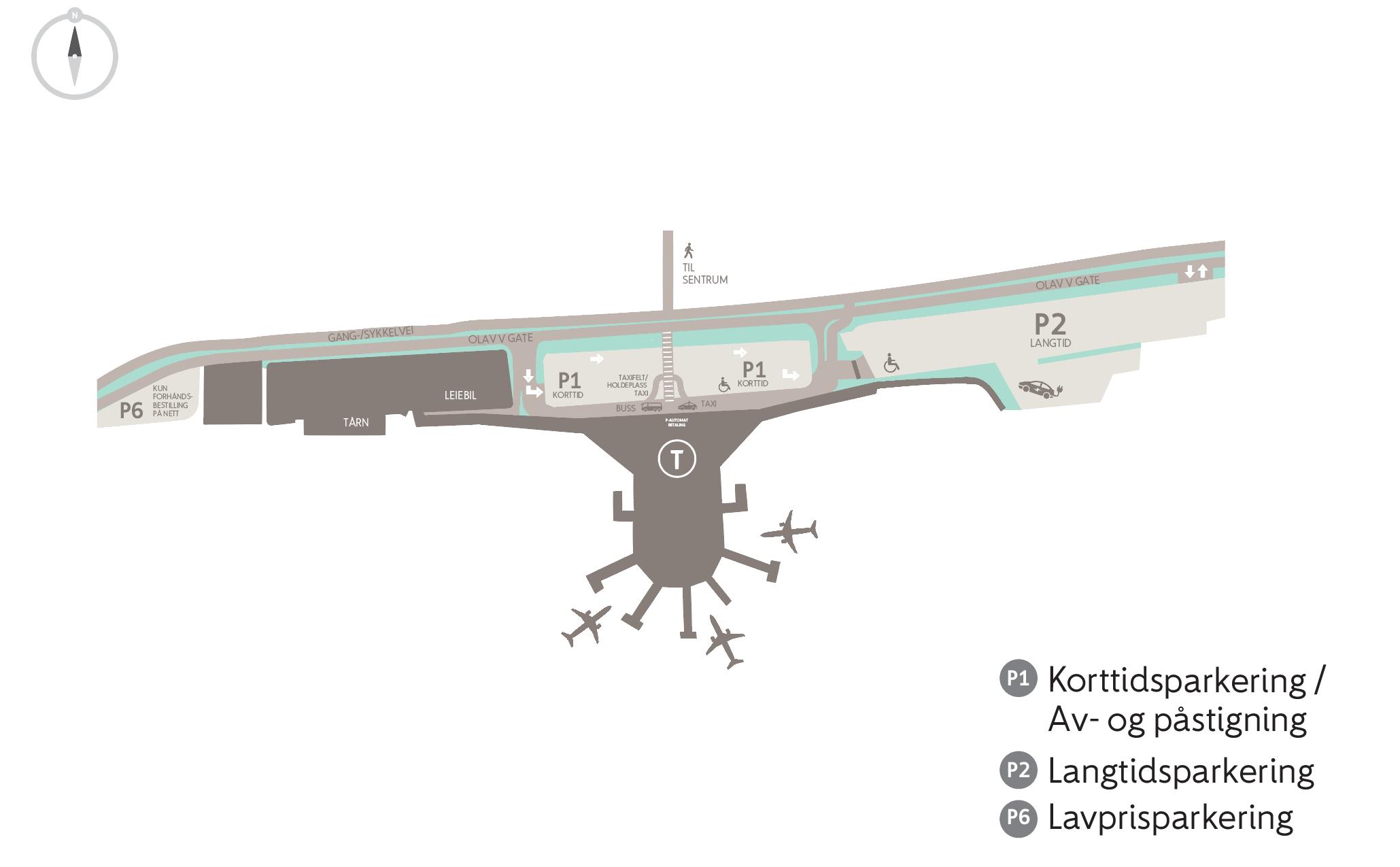 Plattegrond vliegveld luchthaven Bodø