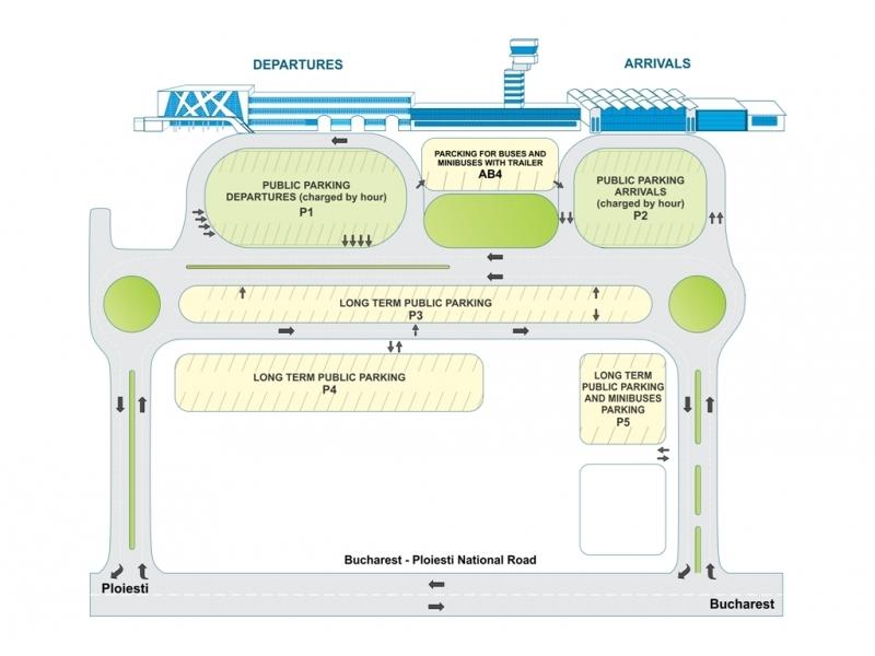Plattegrond vliegveld luchthaven Boekarest Henri Coanda