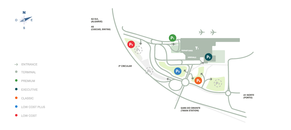 Plattegrond vliegveld luchthaven Lissabon