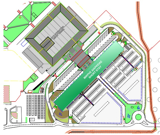 Plattegrond vliegveld luchthaven Paphos