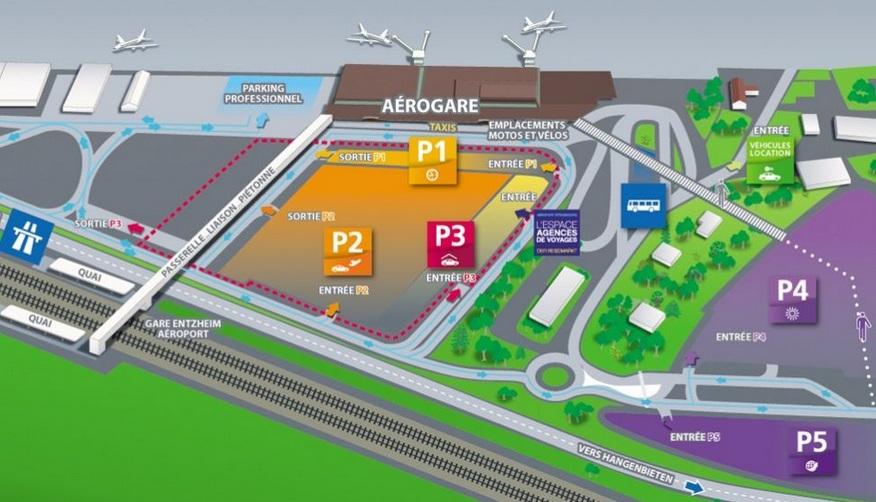 Plattegrond vliegveld luchthaven Straatsburg