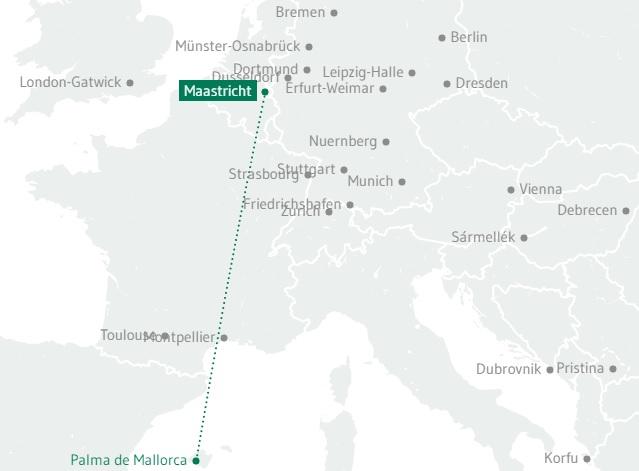 Route Germania Maastricht Aachen - Mallorca