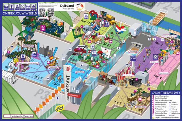Vakantiebeurs plattegrond 2014