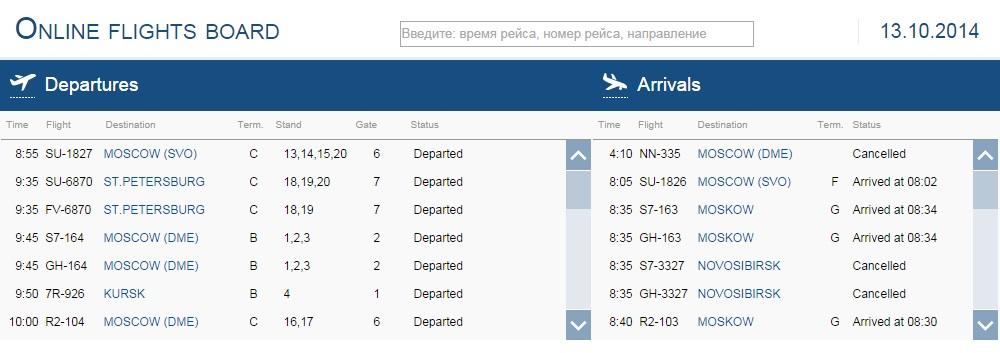 Vertrek- en aankomsttijden Simferopol Airport