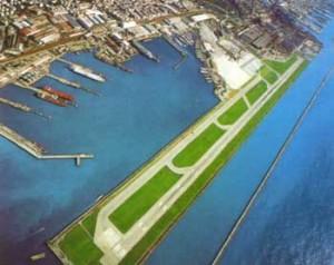 Vliegveld Genua start- en landingsbaan